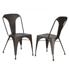 Joveco Metal Stackable Tolix Style Dining Chairs, Set of 2 - JCH216   Jovecoinc.com