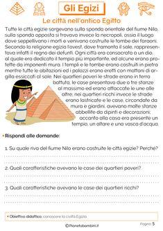 Reading Practice, Italian Language, Middle School, Homeschool, Education, Learning, Egyptians, Milani, Popup
