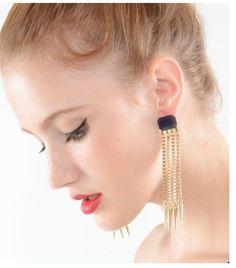 Long Spiked Earrings. www.shopsassygirls.com Instagram: shopsassygirls