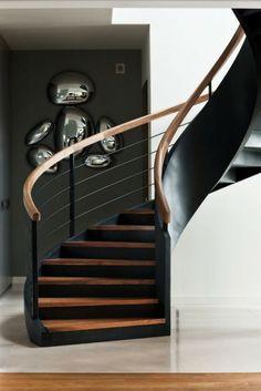couleur d'escalier en bois et décoration intérieure