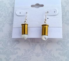 Mother of Pearl Bullet Earrings Bullet Earrings by blazingembers