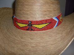 New Thunderbird Eagle Beaded Southwestern Western Cowboy Hat Band Red A2 Crow | eBay