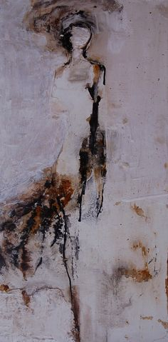 """Felice Sharp """"Entrance"""" 24x12 Mixed on Canvas [SOLD]"""