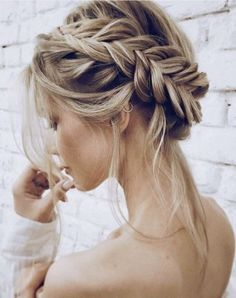 inspiration for wedding day hairstyles for long hair; hair design for wedding; wedding hair looks; Easy hairstyles for women; wedding day hairstyles for long hair; Bride Hairstyles, Easy Hairstyles, Hairstyle Ideas, Updo Hairstyle, Spring Hairstyles, Hairstyles 2018, Everyday Hairstyles, Braided Crown Hairstyles, Christmas Hairstyles