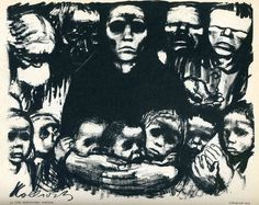 """""""The Survivors,"""" by German Expressionist Kathe Kollwitz, one of my very favourite artists. I reproduced this in charcoal once, though it was originally a litho print. It actually works pretty well in charcoal. Saatchi Gallery, Art Du Temps, Kathe Kollwitz, George Grosz, Guernica, Max Ernst, Political Art, A Level Art, Gcse Art"""