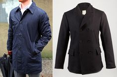 Lightweight Mac and/or Warm Wool Peacoat | 10 Men's Style Essentials to have in Navy on Dappered.com