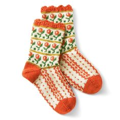 The warmth knitted socks with vintage and cutie pattern. Textiles, Knitting Socks, Sock Shoes, Aesthetic Clothes, Knitwear, Knit Crochet, Cool Outfits, My Style, How To Wear