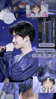 K Wallpaper, Purple Wallpaper, Tumblr Wallpaper, Kpop Exo, Exo Chanyeol, Aesthetic Collage, Kpop Aesthetic, Aesthetic Backgrounds, Aesthetic Wallpapers
