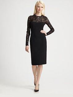 ShopStyle: Lace Illusion Dress