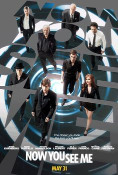 My 'Now You See Me' movie review: Really a lot of fun. They keep the pace moving with one surprise after another. Kind of under the radar but worth seeing on cable or elsewhere.