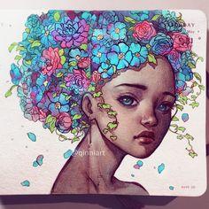Qinni Art, illustrazioni ad acquerello fatte col cuore • Illustrazione