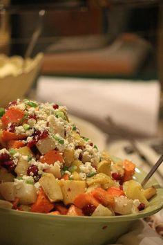 Salad with fresh fru