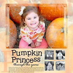 Scrapbook Multiple Years of Pumpkin Patch Photos