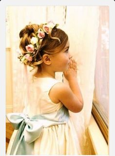 Mint Green and Pink Wedding Flower Girl. love the flowers just in case jenny ever gets to be flower girl. Bridesmaid Flowers, Bridesmaid Hair, Wedding Flowers, Wedding Dresses, Bridesmaids, Hair Flowers, Rose Wedding, Spring Wedding, Wedding Bride
