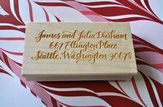 Custom Calligraphy Return Address Stamp - Durham Lettering Style