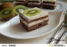 Kiwi řezy s krémem stracciatella recept - TopRecepty.cz Kiwi, Tiramisu, Cheesecake, Treats, Ethnic Recipes, Sweet, Hampers, Cooking, Sweet Like Candy