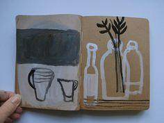 brown paper sketchbook cathy cullis