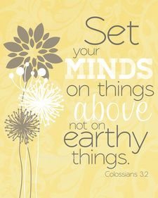 Set your minds on things above | 8x10 print | Colossians 3:2 | Melissa Fleming Designs