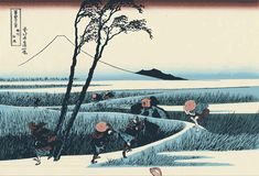The Great Wave: 10 things you didn't know about Hokusai. Fuji, InsideJapan looks at Hokusai, painter of The Great Wave off Kanagawa, Monte Fuji, Hokusai Paintings, Jeff Wall, Art Occidental, Traditional Japanese Art, Japanese Style, Japanese Gif, Japanese Nature, Vintage Japanese