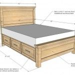 Build a Farmhouse Storage Bed with Storage Drawers Project