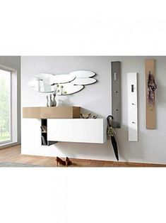 Perfect for your hallway. Shoe Storage,coat hanger, and modern design. Perfect for your hallway. Shoe Storage,coat hanger, and modern design. Hallway Furniture, House Design, Foyer Design, Foyer Decorating, Modern Design, Home Decor, Modern Interior Design, House Interior Decor, Furniture Design