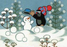 Krtek - winter.