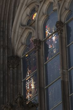 valscrapbook:    Cologne Cathedral - 22 | Shaft of sunlight through stained glass windows by Paulo Dykes on Flickr.