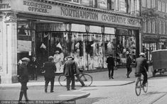 Photo of Northampton, The Co Op, Abington Street 1922 Northampton England, Council House, The Blitz, Back In Time, Summer Nights, Shops, Street View, London, History