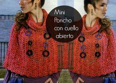 Mini poncho patron crochet