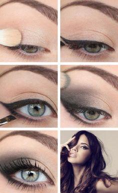 tuto-maquillage-yeux-bleus-eye-liner-fard-paupières-beige-noir aufbewahrung augen blaue augen eyes für jugendliche hochzeit ıdeen retention tipps eyes wedding make-up 2019 Makeup Hacks, Makeup Inspo, Makeup Inspiration, Makeup Tips, Beauty Makeup, Hair Makeup, Makeup Tutorials, Makeup Ideas, Makeup Trends