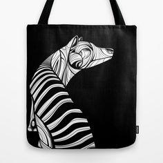 Thylacine (Tasmanian Tiger) Tote Bag by Dchristo - $22.00