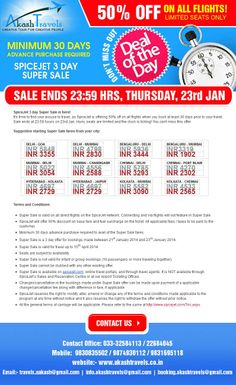 Avail the special offer SOON, as it is valied upto 23rd Jan, Thursday. http://www.akashtravels.co.in/