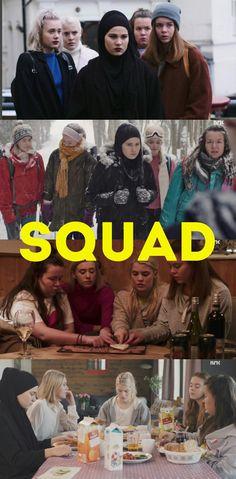 My fav squad ever. The girls of SKAM William Skam, Noora And William, Norway Wallpaper, Skam Wallpaper, Series Movies, Tv Series, Norway Girls, Skam Aesthetic, Noora Skam