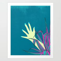 give it a try Art Print by juni - X-Small Buy Frames, Printing Process, Moose Art, Gallery Wall, Art Prints, Illustration, Artist, Artwork, Art Impressions