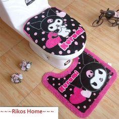 2012New Unique My Melody Kuromi Bath Mat & Toilet Seats Lid Cover + FREE SHIP | eBay