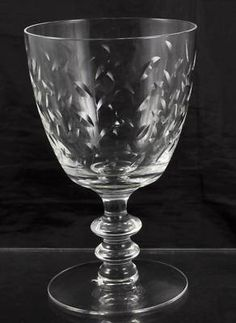 Fostoria Hawthorn Cut Glass Wine / Water Goblet(s)
