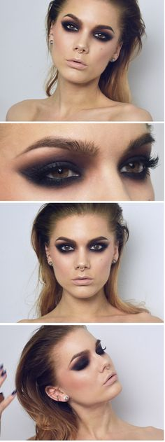 Todays look Dark matter smokey eyes