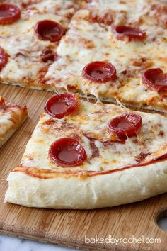 Perfect Pepperoni Pizza Recipe from bakedbyrachel.com