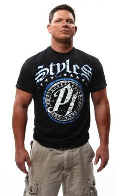 """AJ Styles """"There Can Be Only One""""; ShopTNA; Phenomenal One; Black T-shirt; Men's fashion; clothing; gift ideas for men; gift ideas for boys; TNA Wrestling; IMPACT Wrestling; wrestling legend"""