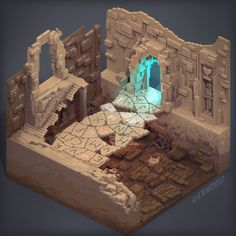 Thibault Simar shared some techniques he uses to build exciting voxel-based dioramas. He shows some fantastic level of details in his projects. Game Environment, Environment Concept Art, Environment Design, Fantasy Landscape, Fantasy Art, Isometric Art, Isometric Design, Minecraft Projects, Minecraft Ideas