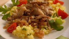 Opečená hliva s cibuľou Grains, Paleo, Food And Drink, Veggies, Rice, Beef, Cooking, Recipes, Chemistry