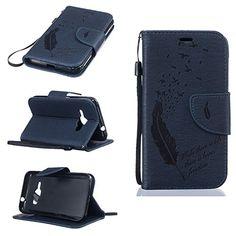 nice Voguecase® Para Smartphone Funda Carcasa Cuero Tapa Case Cover + Gratis aguja de la pantalla stylus universales