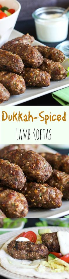These Dukkah-Spiced Lamb Koftas are handy to keep in the freezer for a quick meal.  Wedge them in a flat bread with salad, and dinner is done.