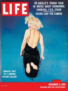 Marilyn Monroe on the cover of Life magazine, November 9, 1959, USA. Cover photo by Philippe Halsman.