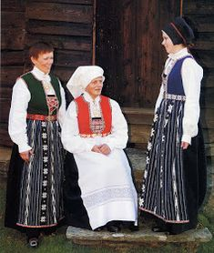 Hello all, Today I will cover the last province of Norway, Hordaland. This is one of the great centers of Norwegian folk costume, hav. Folk Costume, Costumes, Hardanger Embroidery, Traditional Outfits, Norway, Culture, Children, People, How To Wear