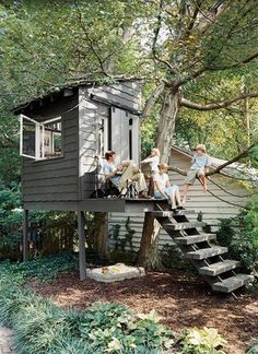 diy treehouses and playgrounds