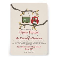 Back to school open house invitation open house invitation school owl back to school classroom open house invite stopboris Images