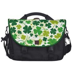 Lucky Floral Clovers Laptop Bags