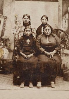 Unidentified women of the Osage Nation. Circa 1880. No additional information re: this photo.