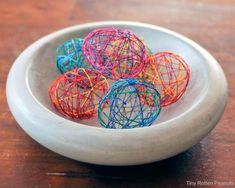 Cool Easter Craft: String Easter Eggs · Credits: Craftwhack